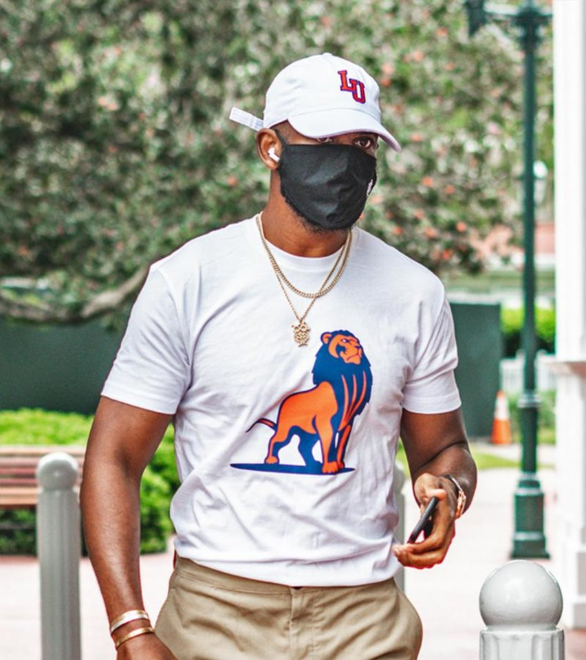 Photo - Chris Paul in a Langston University shirt and hat prior to Wednesday's game. [Photo via Thunder Twitter account]