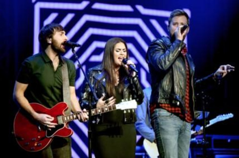Photo - Lady Antebellum performs at the Country Rising benefit concert Sunday at Nashville's Bridgestone Arena. Photos provided courtesy of Getty