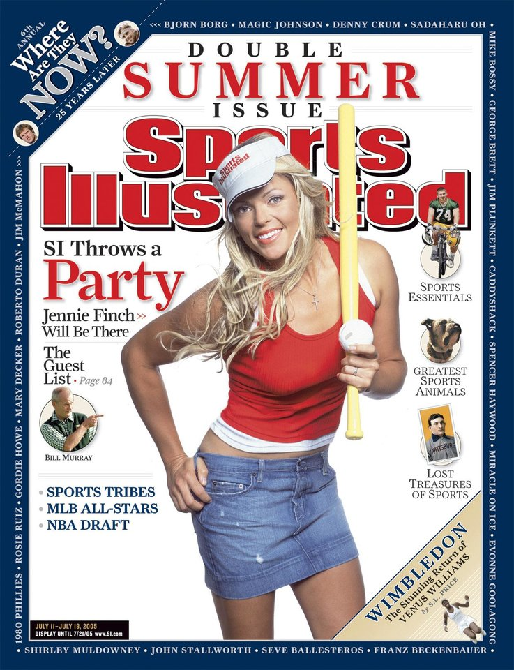 Photo - Sports Illustrated cover of Jennie Finch.