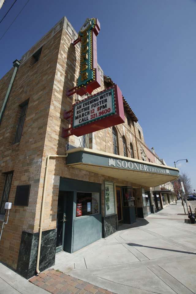 Photo - The Sooner Theater in Norman is one of Allied Arts' new member agencies. PHOTO BY STEVE SISNEY, THE OKLAHOMAN.  STEVE SISNEY