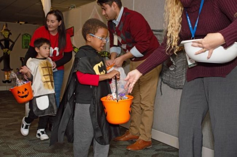 Photo -  The Oklahoma Medical Research Foundation hosted a Halloween event for more than 75 children from Positive Tomorrows. [PROVIDED]