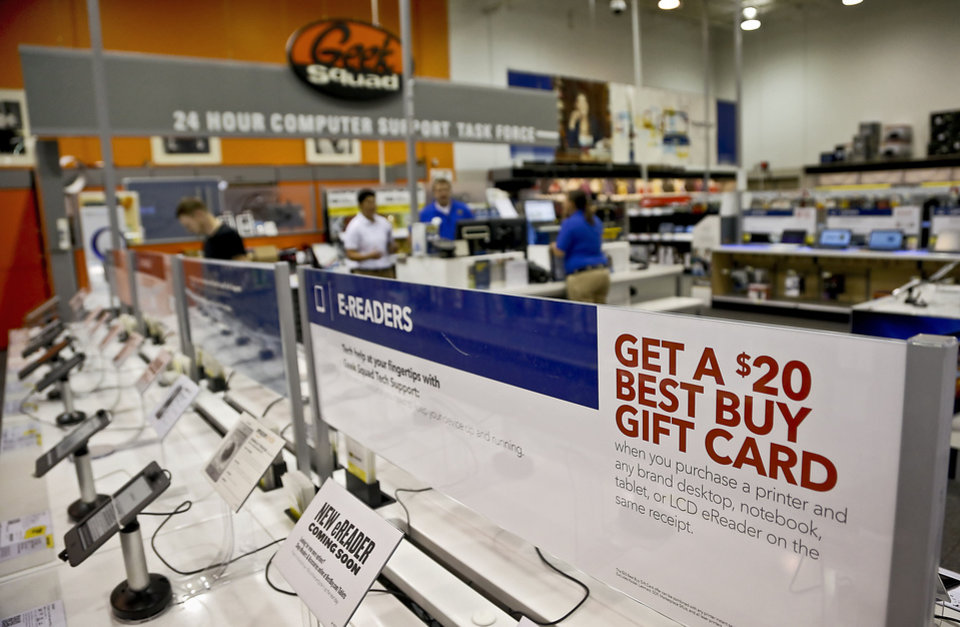 Photo - Best Buy stores are gearing up for back to school sales on tablets and laptops in Oklahoma City.  CHRIS LANDSBERGER - CHRIS LANDSBERGER