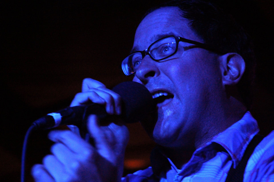 Photo - The Hold Steady frontman Craig Finn opening the set on Friday evening at the Diamond Ballroom.