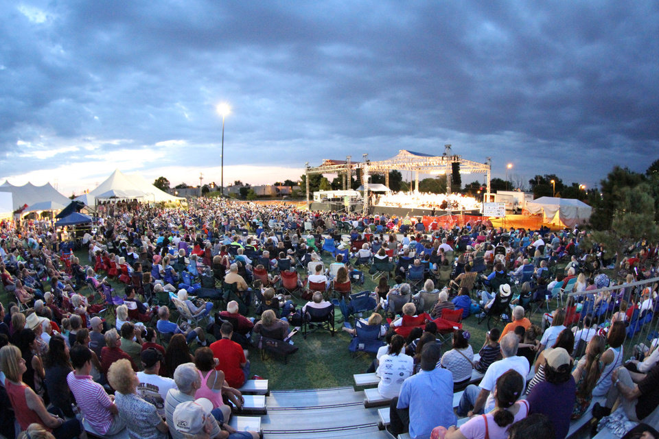 Photo - Festival goers watch a performance at a previous Arts Festival Oklahoma. Photo provided.
