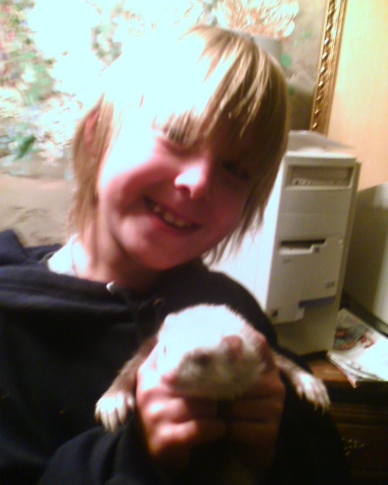 This is Kash and   MC' KIta this is my cute ferrit ,, she likes to dive and play outside. She is very playful ... she acts like a monkey .. that is how i got her name.. she gives kisses.<br/><b>Community Photo By:</b> Tama<br/><b>Submitted By:</b> Tama, Midwest