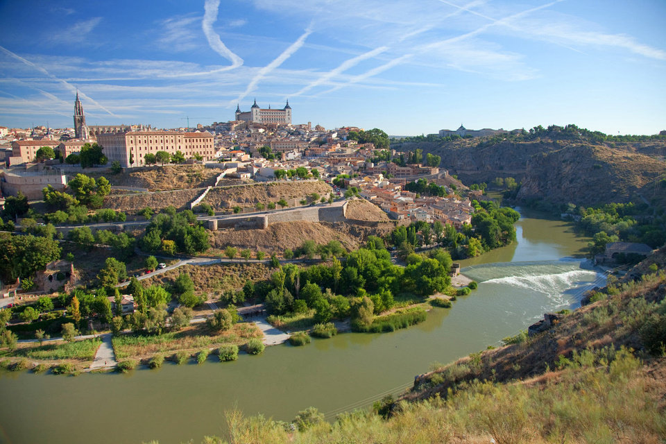 Lassoed by the Tajo River, well-preserved Toledo has been declared a national monument.   Photo by Dominic Bonuccelli   <strong>dominic arizona bonuccelli / azfoto.com</strong>