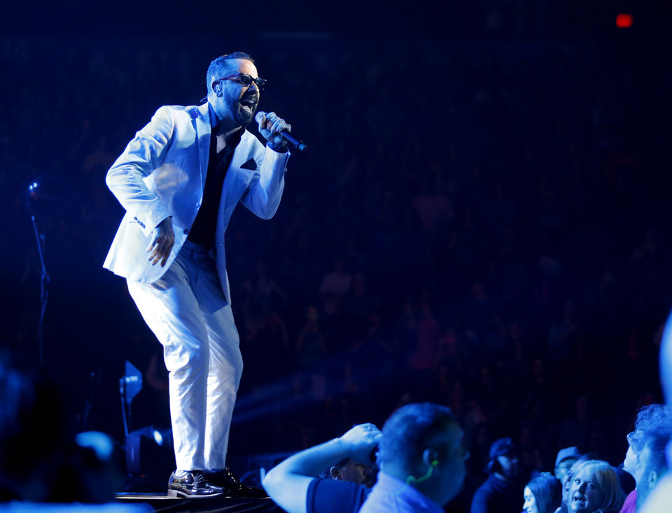 Photo - A. J. McLean with the Backstreet Boys performs at Chesapeake Energy Arena, Friday, June 6, 2014. Photo by Bryan Terry, The Oklahoman