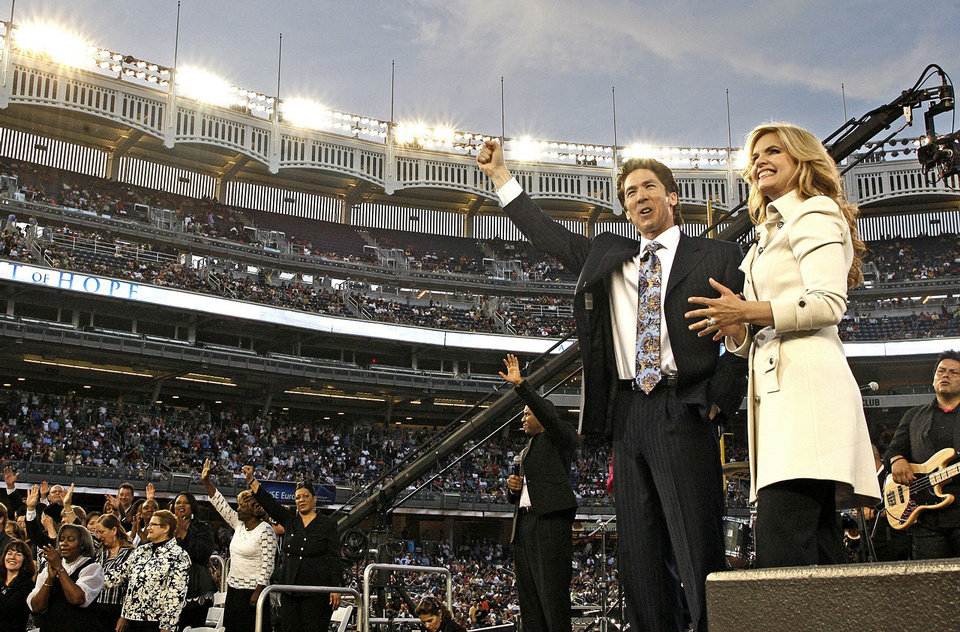 Photo - Joel and Victoria Osteen are shown at one of their