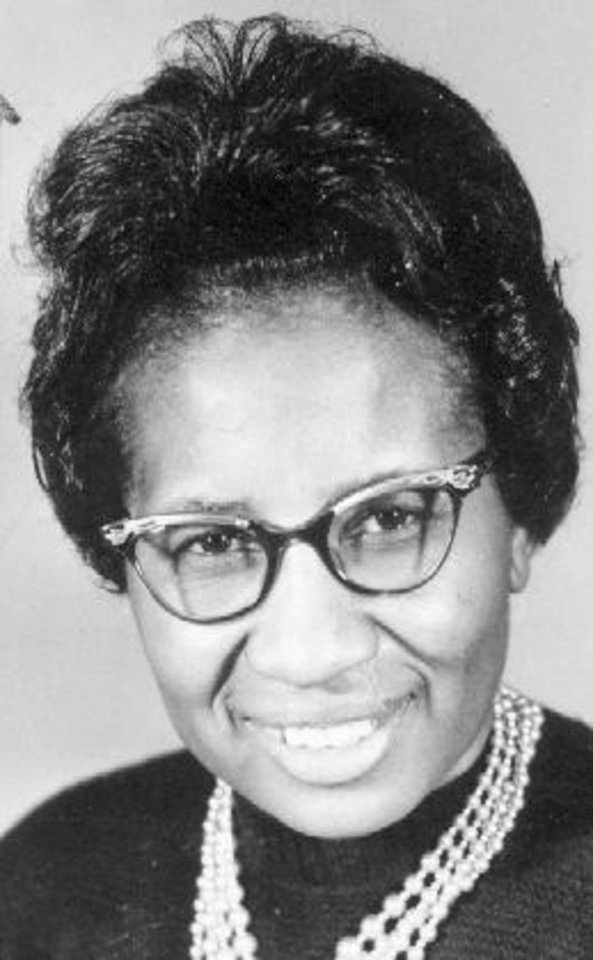 Photo - CLARA LUPER: Clara Shepherd Luper, civil rights activist  12/5/63