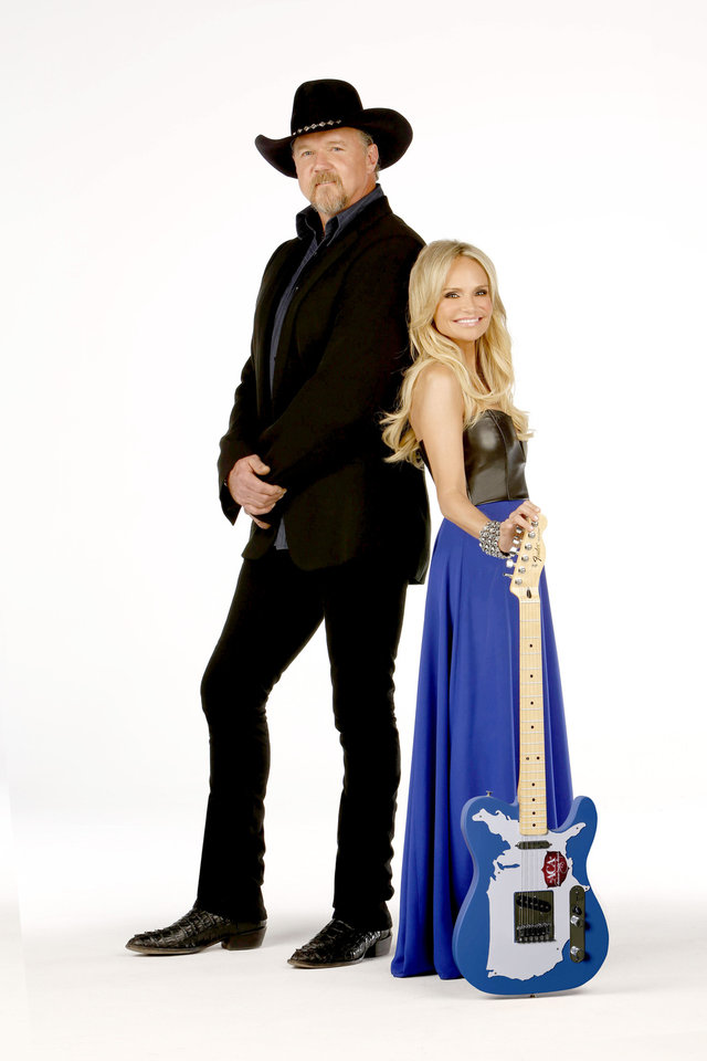 Multi-platinum recording artist Trace Adkins and Emmy and Tony Award winner Kristin Chenoweth, who hails from Broken Arrow, return as hosts of the third annual American Country Awards, airing from Las Vegas Monday on Fox. The live awards show will take place at Mandalay Bay in Las Vegas. Fox photo Craig Blankenhorn