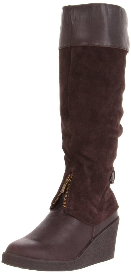 "Get the ""Bond Girl"" look of actress Berenice Marlohe by paring a trench coat with boots such as this Cougar women's mirage knee-high boot. ($125.50 at Amazon.com) (Amazon.com/Los Angeles Times/MCT)"