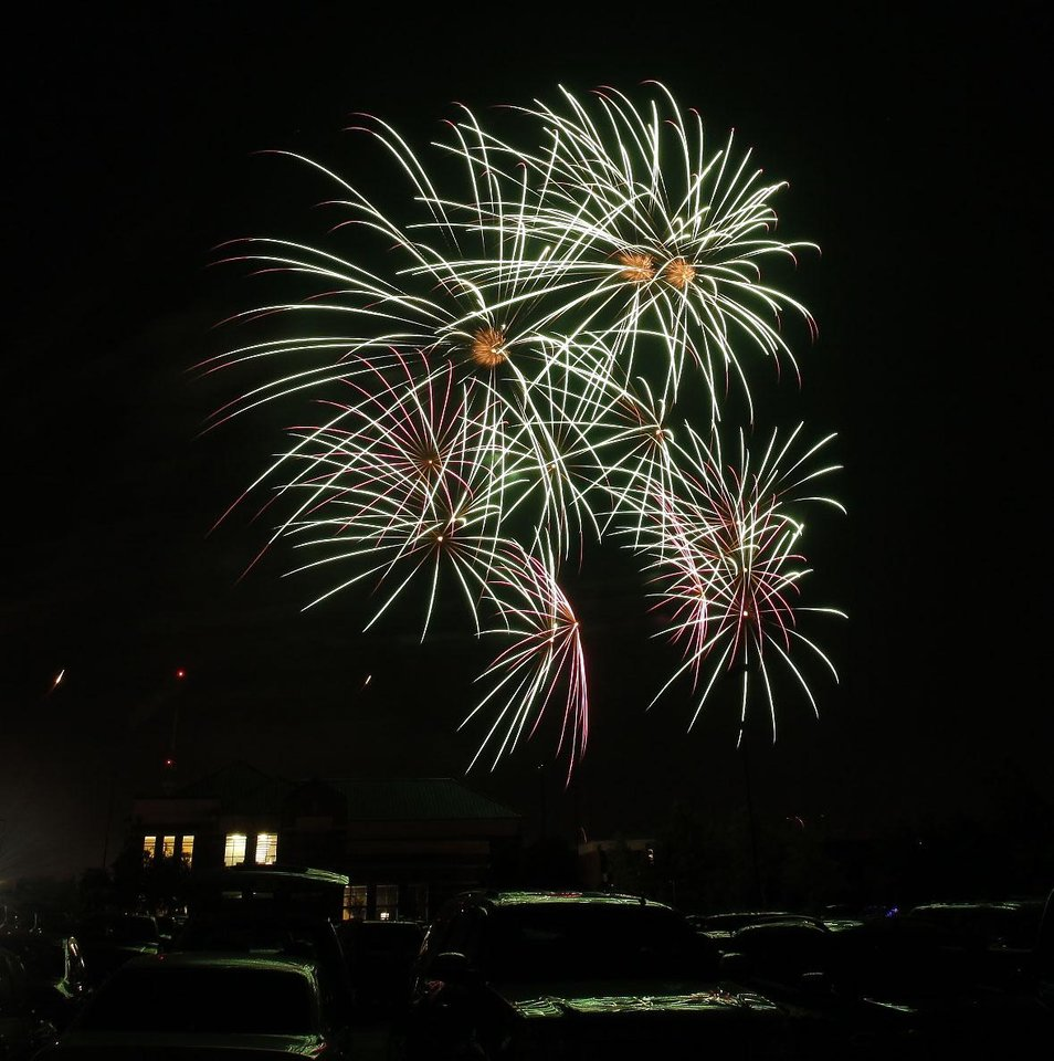 Photo -  Fireworks show concluding LibertyFest at UCO Monday, July 4, 2011. Photo by Doug Hoke, The Oklahoman.