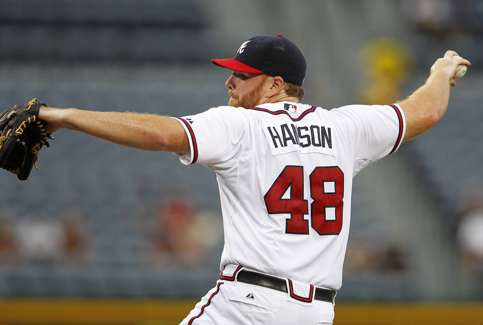 Photo -   Atlanta Braves starting pitcher Tommy Hanson works in the first inning of a baseball game against the Colorado Rockies on Tuesday, Sept. 4, 2012, in Atlanta. (AP Photo/John Bazemore)
