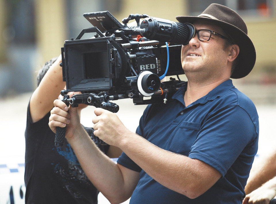 Photo - MOVIE: Director of photography Alan Novey films on the set of