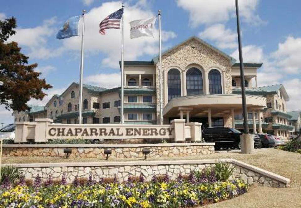 Chaparral Energy Inc.�s headquarters in Oklahoma City is shown.  PHOTO BY PAUL B. SOUTHERLAND, THE OKLAHOMAN ARCHIVES