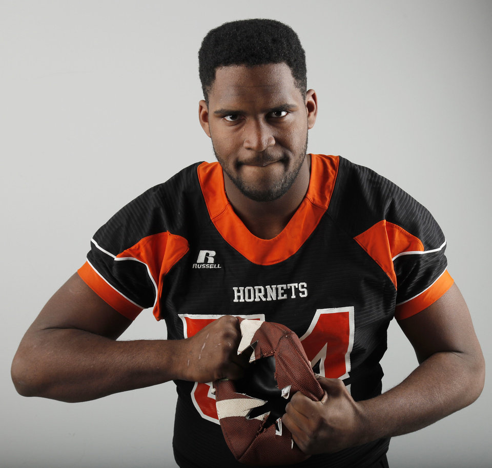 2010 All State football selection, Derrick Alexander, of Booker T. Washington Hornets, Monday Dec. 13, 2010. Photo by Doug Hoke, The Oklahoman. ORG XMIT: KOD