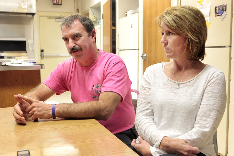 Photo - GREG WESTERMIER: Greg and Tammy Westermier, Tuesday, October 8, 2013.  Ten years ago their daughter died after an accident outside a rodeo arena. Talking in part with them about their decision to participate in organ donations from their daughter.Photo by David McDaniel, The Oklahoman