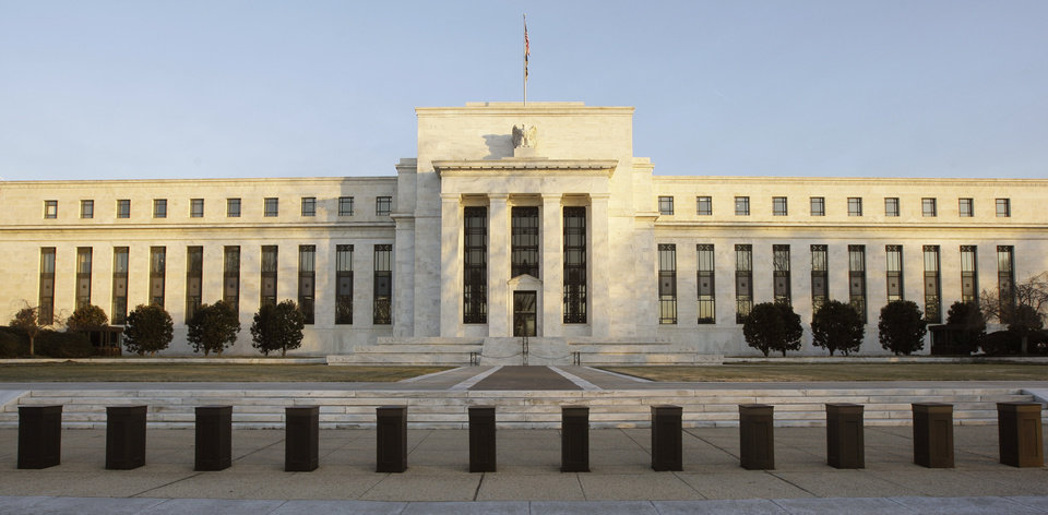 The Federal Reserve Building is seen in Washington. AP Photo