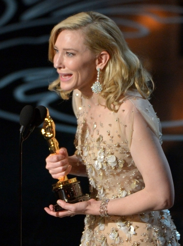 Photo - Cate Blanchett accepts the award for best actress in a leading role for