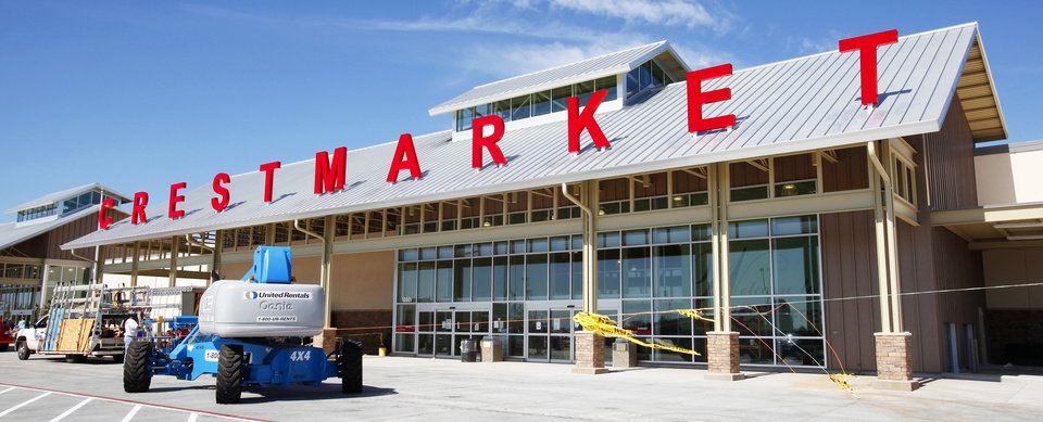 Photo - The new Crest Fresh Market, at SW 104 and S May Avenue, is set to open Wednesday.Photos by PAUL B. SOUTHERLAND, the oklahoman