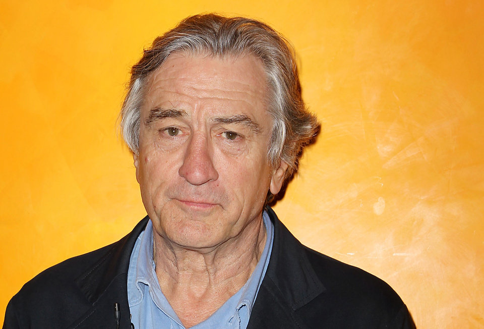Photo -   FILE - In this March 13, 2012, file photo Actor Robert De Niro poses for a photo at The Times Center in New York. At a New York fundraiser headlined by first lady Michelle Obama in March, De Niro attempted satire by ticking off the names of the GOP presidential candidates' wives, then joking that America wasn't