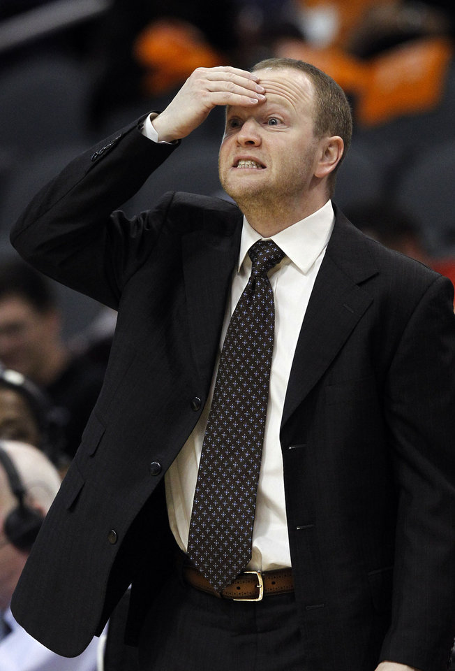 Detroit Pistons' Lawrence Frank reacts to a turnover in the first half during an NBA basketball game against the Phoenix Suns, Friday, Nov. 2, 2012, in Phoenix. (AP Photo/Ross D. Franklin)