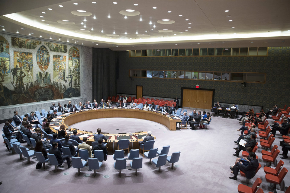 Photo - The U.N. Security Council convenes on the worsening situation in Gaza at United Nations headquarters, Monday, July 28, 2014. The U.N. Security Council called for