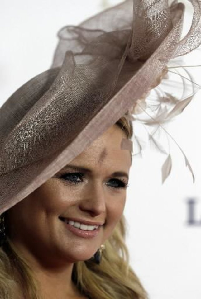 Miranda Lambert arrives to attend the 139th Kentucky Derby at Churchill Downs Saturday, May 4, 2013, in Louisville, Ky. (AP)