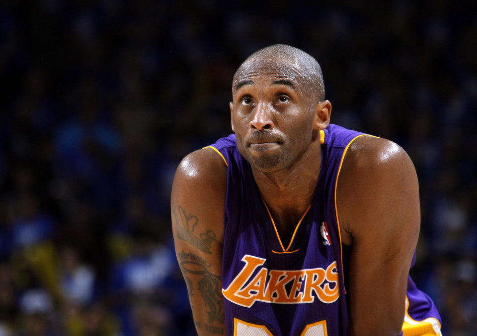 The Lakers� Kobe Bryant hasn�t played this season after undergoing surgery on a torn right Achilles tendon in April.Photo by Bryan Terry, The Oklahoman Archives