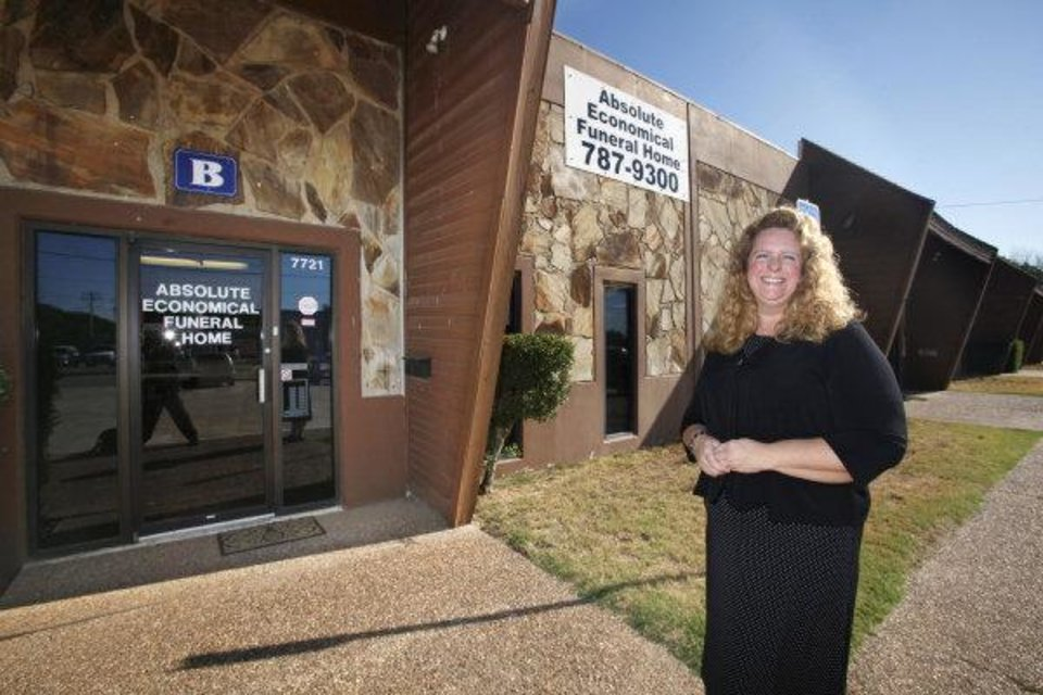 Photo - Debra House standing in front of her business, Absolute Economical Funeral Home, 7721 NW 10 St., in Oklahoma City Thursday, Sept. 8, 2011. Photo by Paul B. Southerland, The Oklahoman