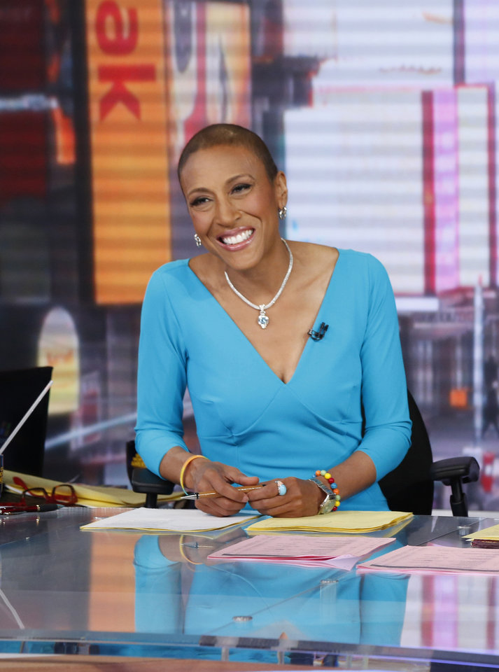 Photo - This image released by ABC shows anchor Robin Roberts during a broadcast of