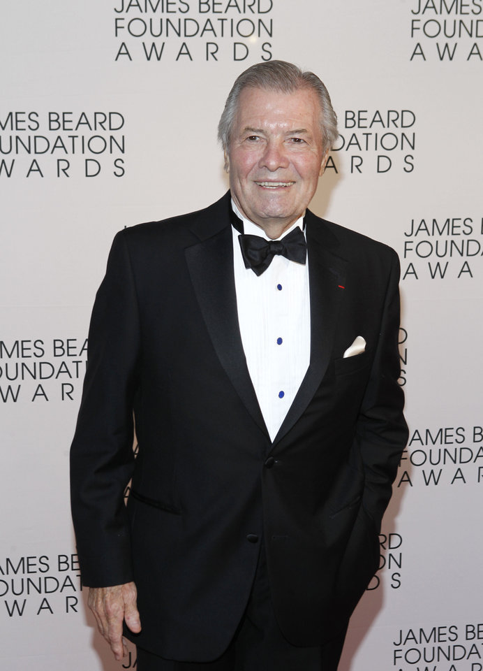 Photo -   Chef Jacques Pepin arrives for the James Beard Foundation Awards, Monday, May 7, 2012, in New York. (AP Photo/Jason DeCrow)