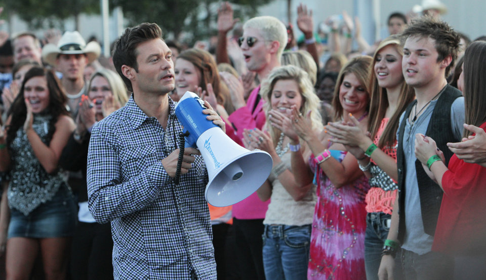 Photo - Ryan Seacrest at the American Idol auditions at the Chesapeake Energy Arena in downtown Oklahoma City, Friday, July 20 , 2012. Photo By David McDaniel/The Oklahoman  David McDaniel - The Oklahoman
