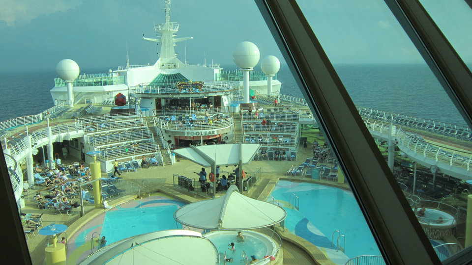 Photo - The pool deck is shown aboard the Navigator of the Seas.   -  Richard Darnell