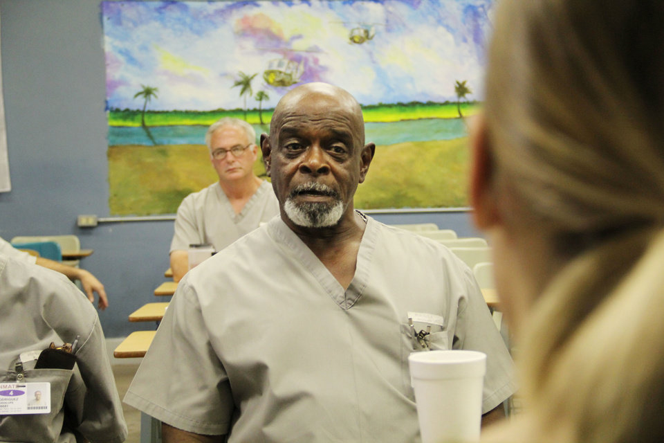 Photo - Roy L. Bowman, a Vietnam War veteran incarcerated at James Crabtree Correctional Center, gives insight about living with post-traumatic stress disorder. Bowman has been in prison for about 36 years for a second-degree murder conviction. Photos by Darryl Golden, The Oklahoman