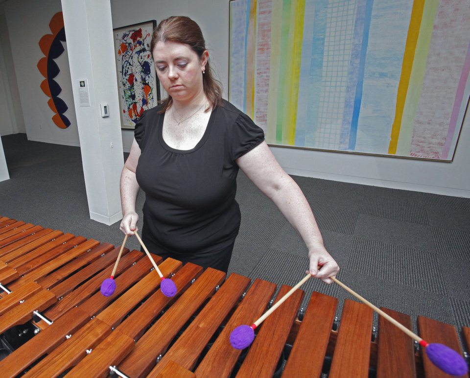 University of Oklahoma World Music Professor Christine Souza performs at a Tuesday Noon Concert in 2011. Souza opens this semester's series of concerts Tuesday. PHOTO BY STEVE SISNEY, THE OKLAHOMAN ARCHIVES