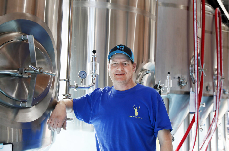 Photo -  John Elkins, founder of the Elk Valley Brewing Company, 1210 N Hudson, is set to open the taps at his new Midtown brewery later this month. [Photo by Nate Billings, The Oklahoman]