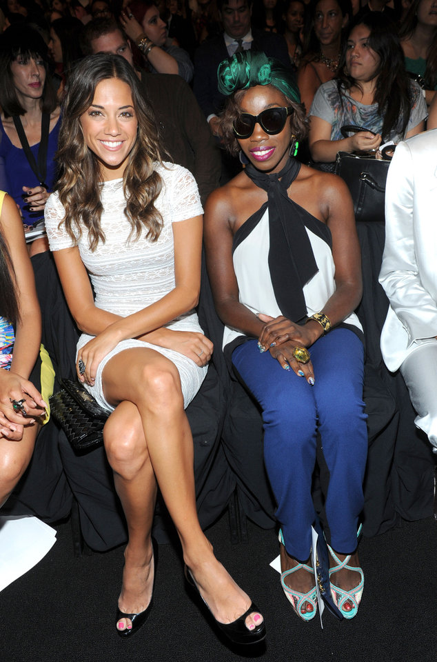 Photo -   Actress Jana Kramer, left, and singer Estelle attend the BCBG MAX AZRIA Spring 2013 show at Fashion Week in New York, Thursday, Sept. 6, 2012. (Photo by Diane Bondareff/Invision/AP Images)
