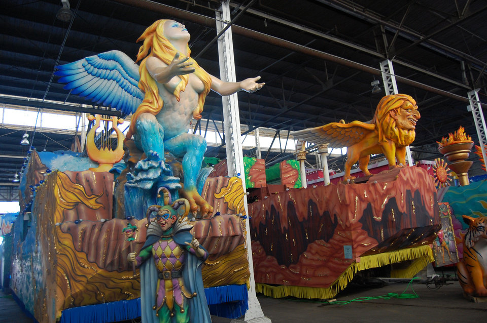 A tour of Mardi Gras World gives visitors a behind-the-scenes peek at Mardi Gras parade floats. PHOTO BY WESLEY K.H. TEO PROVIDED.   <strong></strong>