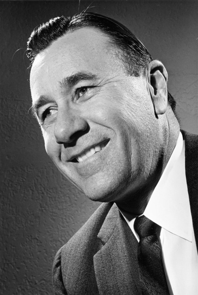 Photo - One of a portrait sequence of Tulsa evangelist Oral Roberts taken by staff photographer Richard Cobb on March 13, 1962.