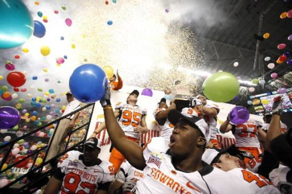 Photo -  A 11-2 season and Alamo Bowl win means a celebration