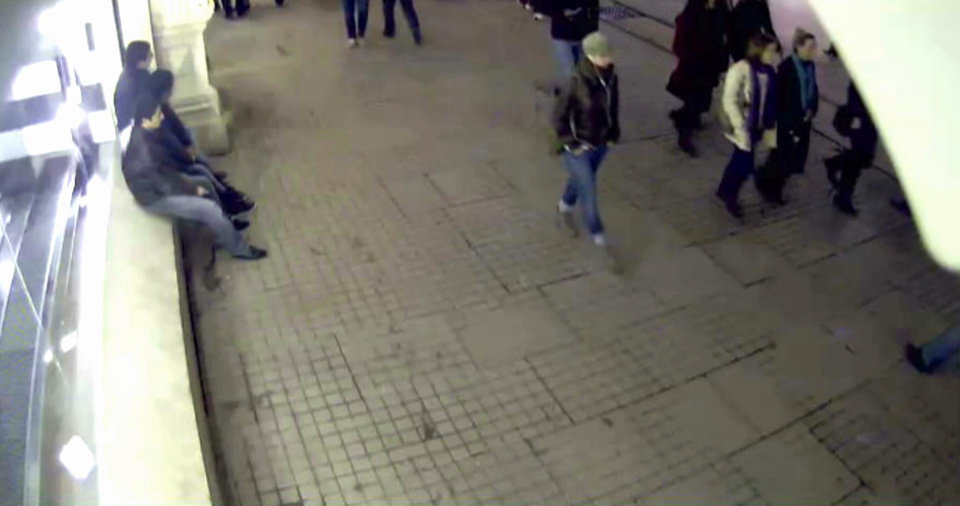 Photo - In this undated image made from a CCTV video released by Turkish police on Tuesday, Jan. 29, 2013, a woman identified by police as Sarai Sierra, 33, right, walks outside a shopping mall in Istanbul, Turkey. Sierra has been missing since Jan. 21, when she was supposed to return to New York but was not on her flight back home. She arrived in Istanbul on Jan 7. (AP Photo)