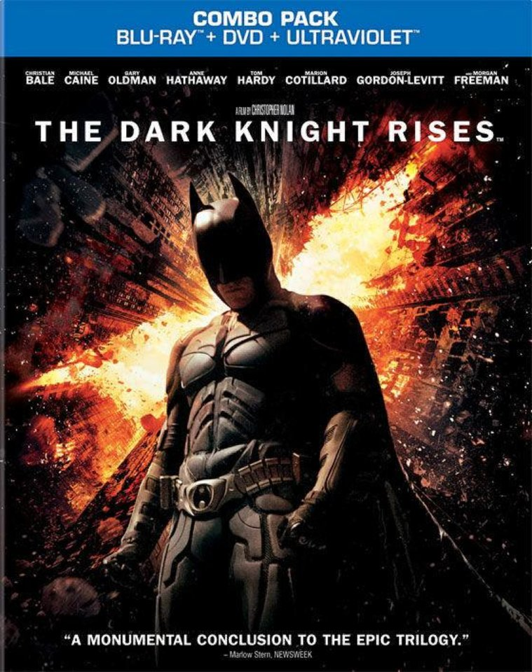"""The Dark Knight Rises"" Blu-ray. Warner Bros."