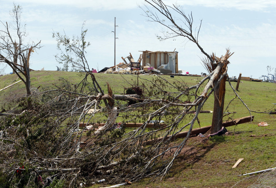 Damage from Sunday\'s tornado in the Woodlands and Pecan Valley area is shown on Thursday, May 23, 2013 in Little Axe, Okla. Photo by Steve Sisney, The Oklahoman