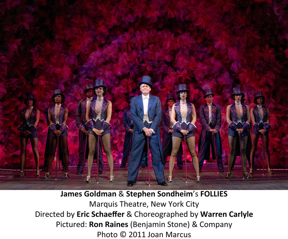 "Ron Raines (as Ben Stone) and the cast of the 2011 Broadway revival of ""Follies.""   Photo by Joan Marcus <strong>Joan Marcus</strong>"