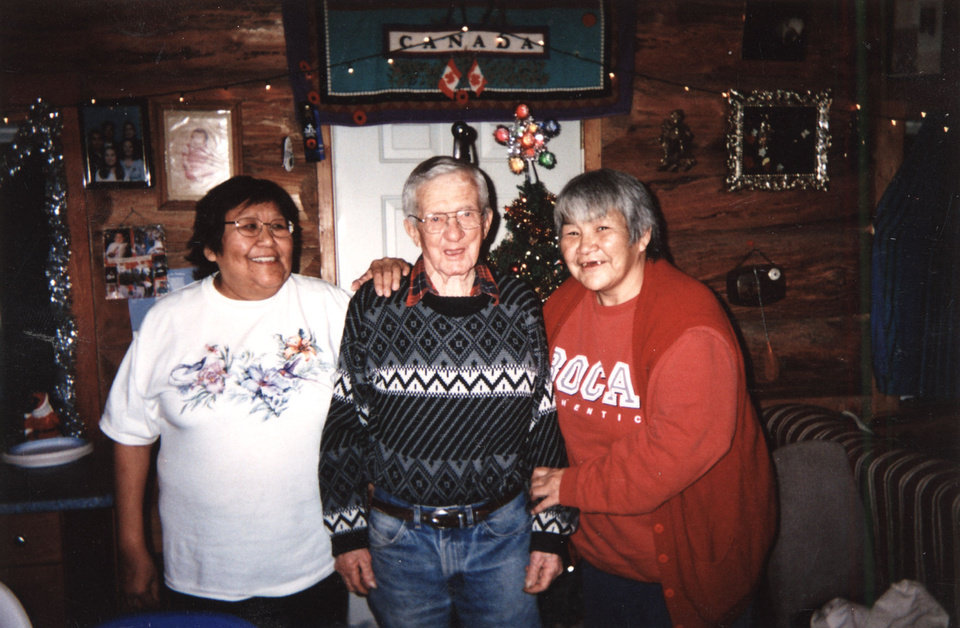 From left, Shelley Ashline poses with her grandfather and her birth mother. Photo provided. <strong>Prepress</strong>