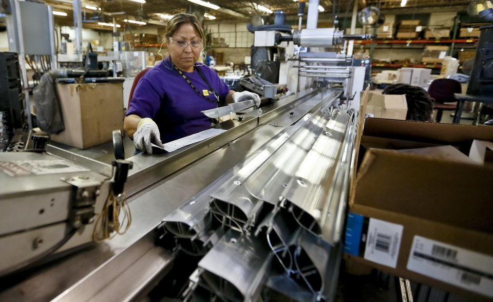 Maria Rangel prepares product for packaging at the MD Building Products plant on Wednesday, Jan. 2, 2013, in Oklahoma City, Okla. Photo by Chris Landsberger, The Oklahoman
