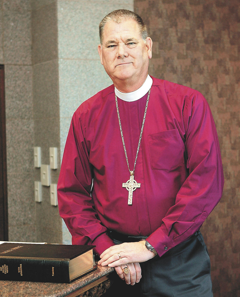 The Rt. Rev. Edward Konieczny is the bishop of the Episcopal Diocese of Oklahoma  <strong>PAUL HELLSTERN - The Oklahoman</strong>
