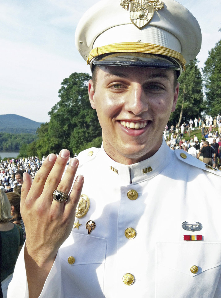 This August, 2012 photo provided b Jodie Szablowski shows Evan Szablowski at the U.S. Military Academy at West Point, NY. Szablowski, of Bakersfield, Calif., is among 32 Americans named as Rhodes Scholars Saturday, Nov. 17, 2012. The award provides all expenses for up to four years of study at Oxford University in England. Szablowski, of Bakersfield, Calif., is a senior at the USMA, where he majors in mathematics. He has also studied at Al-Akhawayn University in Morocco, and worked on projects encouraging entrepreneurship in Ethiopia, and on emerging markets in the Czech Republic. Evan is also a triathlete, conducts a West Point choir, and was a member of the first American team ever to win the Sandhurst military competition. At Oxford, Evan plans pursue a Masters in Science in mathematical modeling and scientific computing. (AP Photo/Jodie Szablowski)