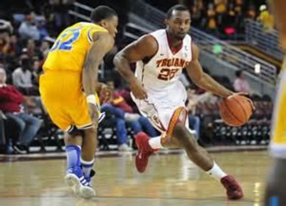 Photo -  Former USC standout Byron Wesley (22) is visiting OSU this weekend.